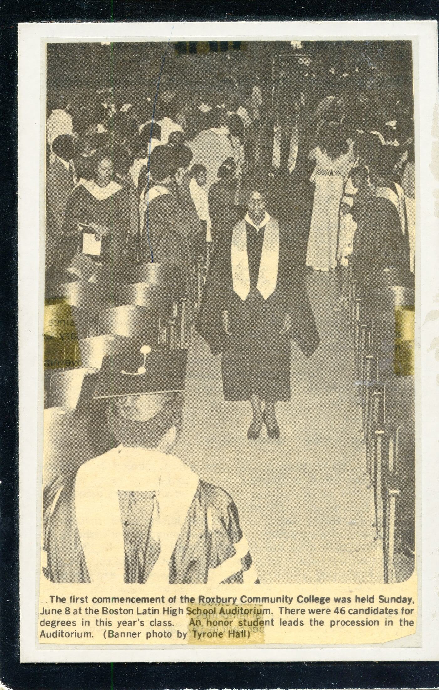 STUDENTS AT THE FIRST COMMENCEMENT, ROXBURY COMMUNITY COLLEGE (1975)