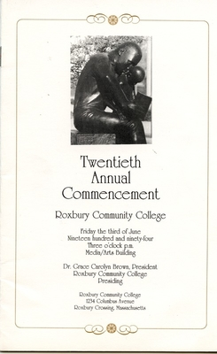 ROXBURY COMMUNITY COLLEGE'S 20TH COMMENCEMENT CEREMONY (1994)