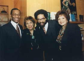 CORNEL WEST VISITS ROXBURY COMMUNITY COLLEGE (1997)