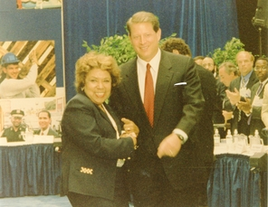 AL GORE AND RCC PRESIDENT CAROLYN BROWN AT THE EMPOWERMENT ZONE CONFERENCE (1997)